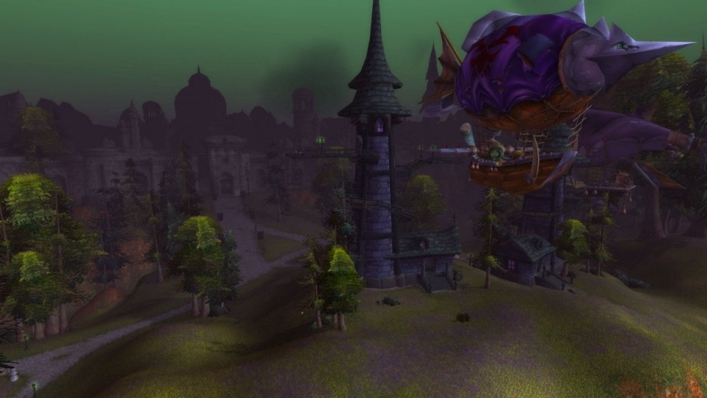 Tower on the left has the zeppelin to Orgrimmar